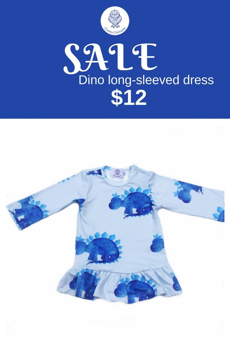 This dino long sleeve dress is currently on sale for only hand