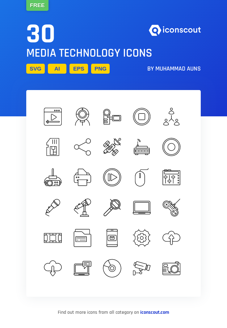 Download Media Technology Icon Pack Available In Svg Png Eps Ai Icon Fonts Technology Icon Icon Pack Icon
