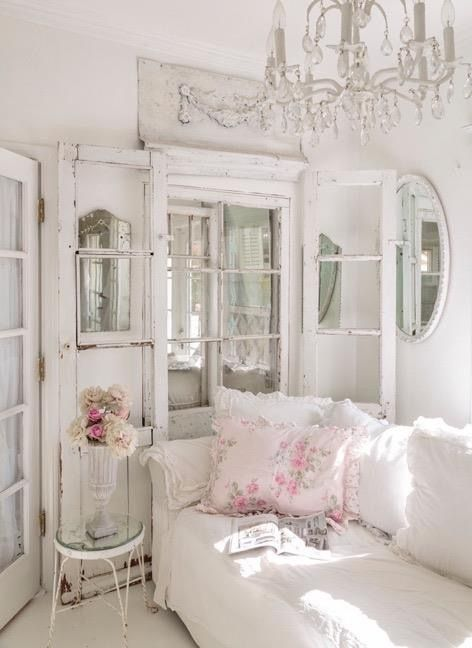 05 French style shabby chic living room - Shelterness | Shabby chic ...