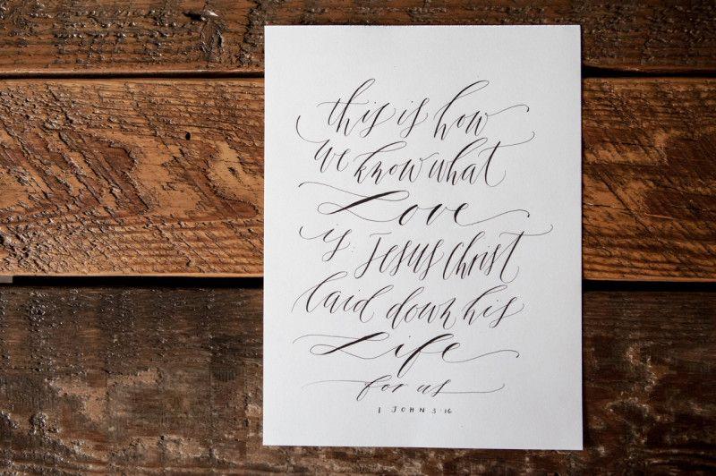 Calligraphy written bible verse written word calligraphy