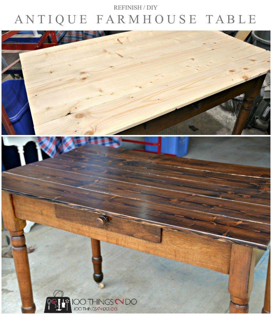 Antique farmhouse table furniture makeover  antique farmhouse table  thingsdo