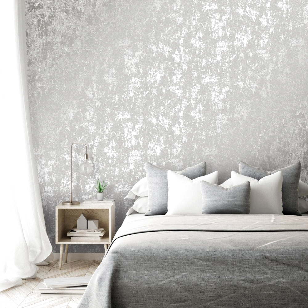 Milan Metallic Wallpaper Grey Silver In 2020 Grey Wallp