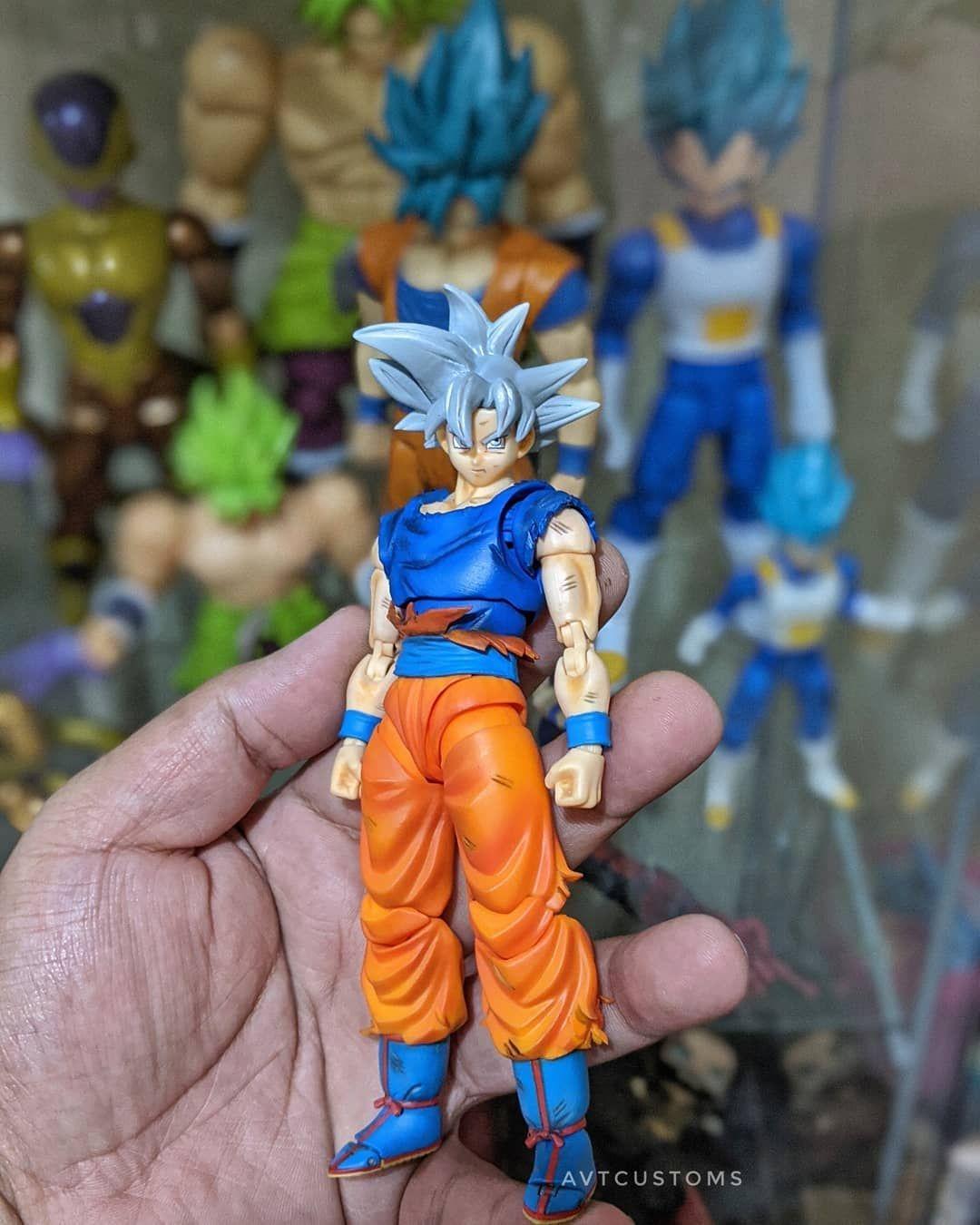 Shf Mastered Ultra Instinct Goku Manga Version By Avtcustoms Anime Dragon Ball Super Dragon Ball Super Goku Anime Dragon Ball