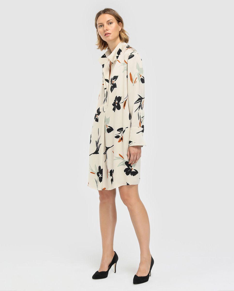 47b53f7ad Vestido de mujer Woman Limited El Corte Inglés con estampado floral y  cuello camisero