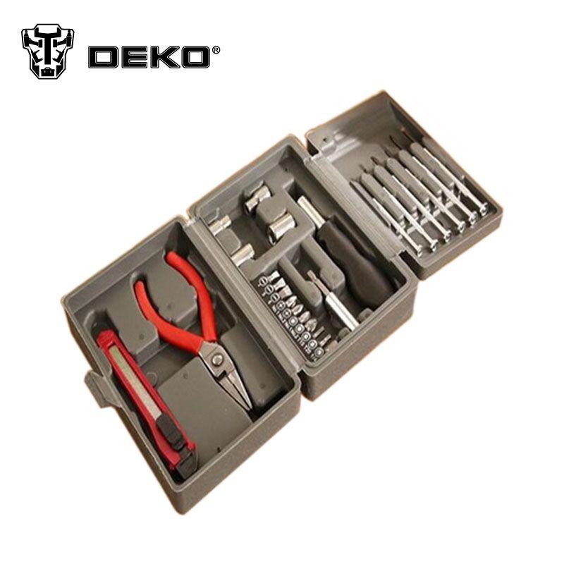 Deko High Quality 24pc Set Multifunctional Household Toolbox