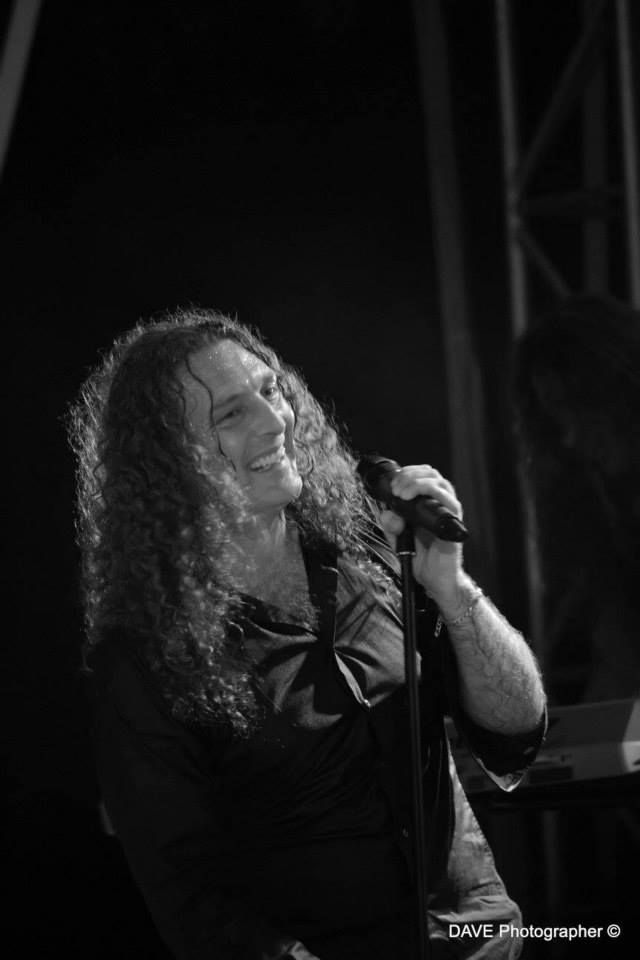 Lovely smile! ^^ Fabio Lione with Rhapsody Of Fire at Ubiale Power Sound Festival (23/07/2015) - Photo by Dave Photographer: https://www.facebook.com/rhapsodyoffire/photos/a.10153175660784302.1073741830.182133284301/10153175661014302/