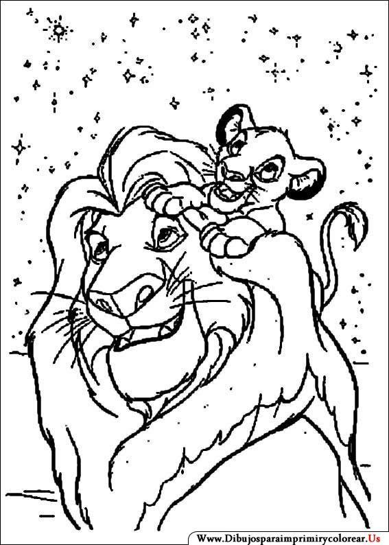 Dibujos de El Rey León para Imprimir y Colorear   ñañita   Pinterest ...