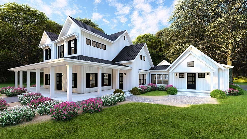 Southern Style House Plan 82502 with 4 Bed , 4 Bath , 4 ...
