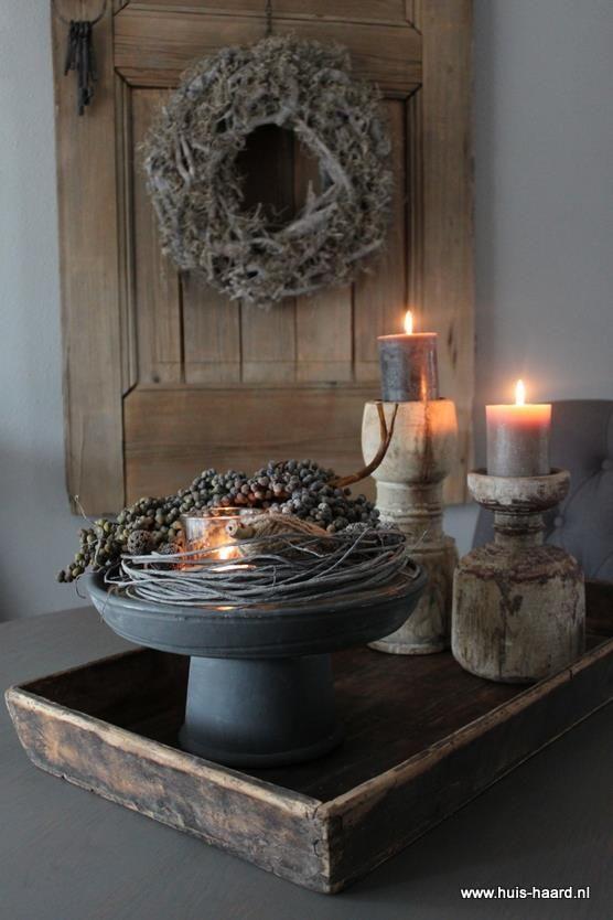 Pin Van Wilma Pannevis Op Kerst Tafeldecoratie Houten Dienblad Rustieke Huis Decoratie Woonkamer Decoratie