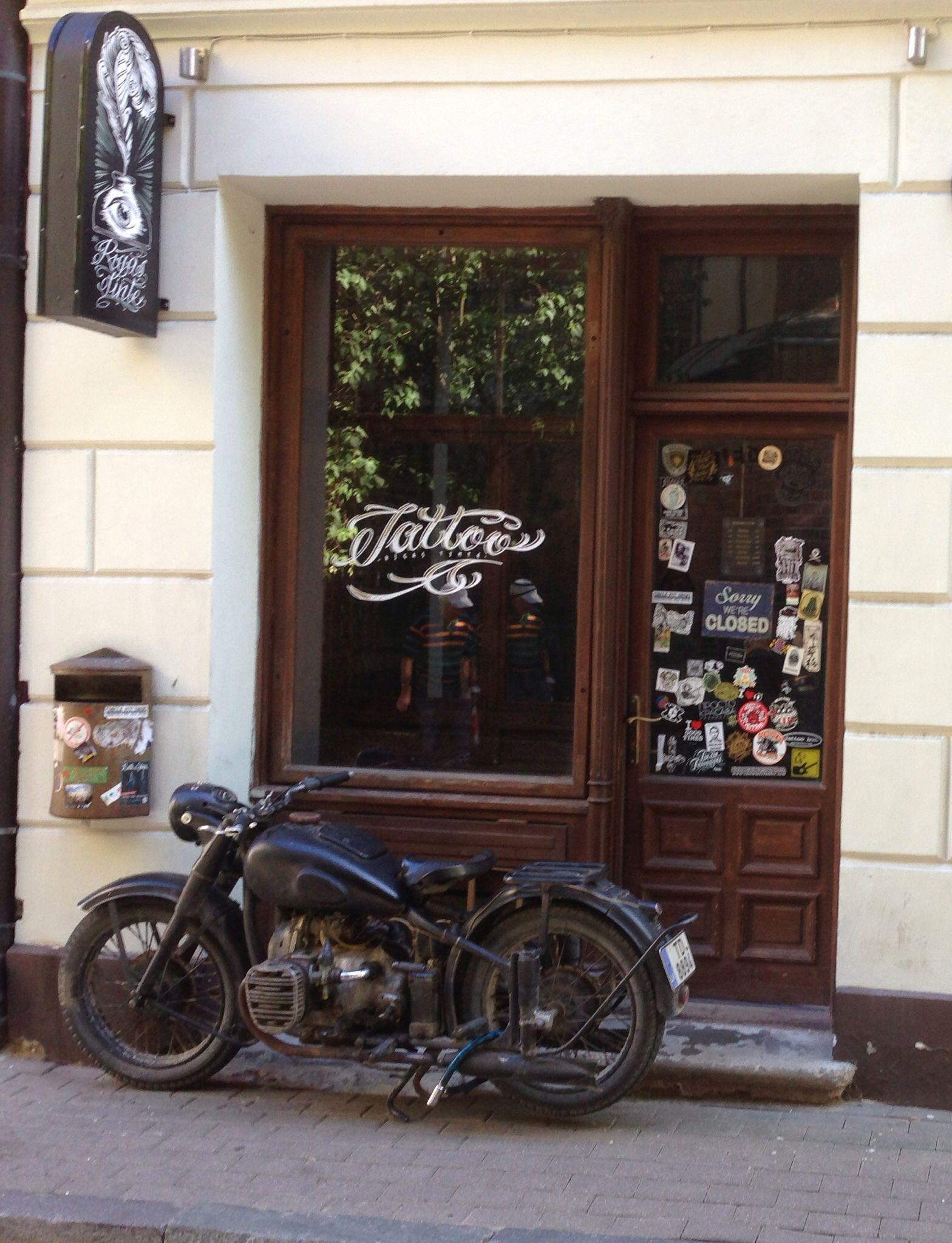 Motorcycle in front of #tattoo store in #Riga #Latvia | Riga, Latvia ...