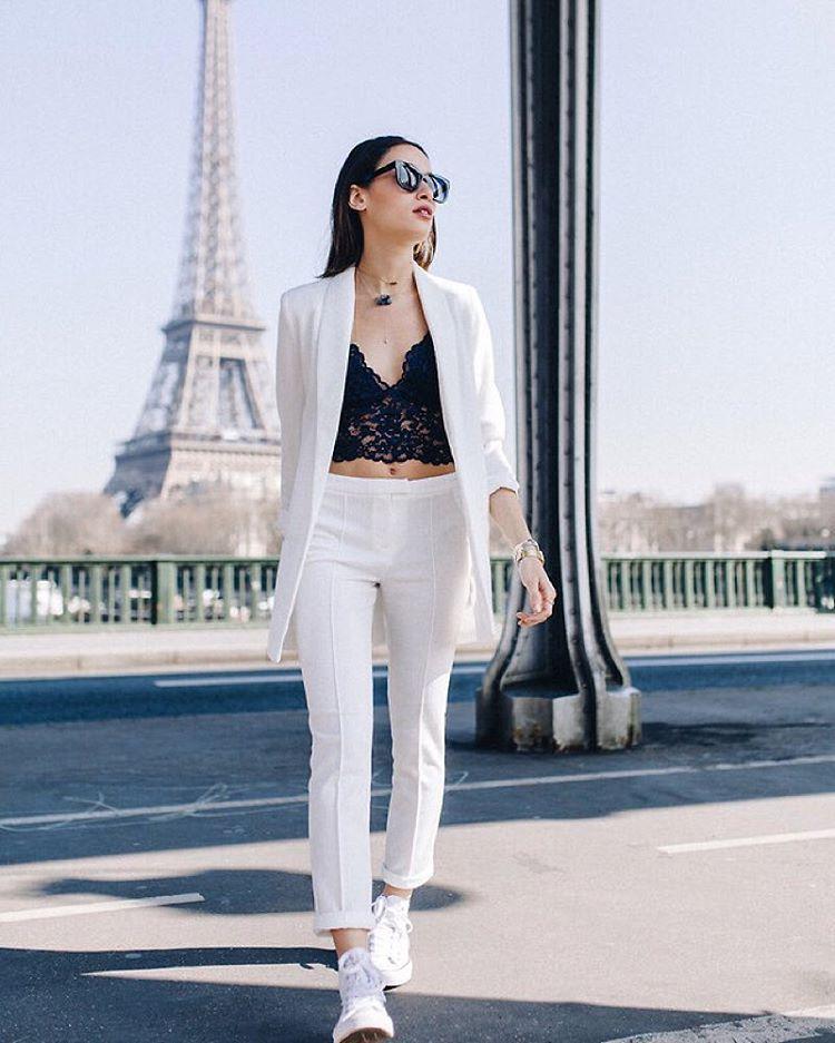 c1a78b34c8 Love this! Suit + bralette  chic  stylish
