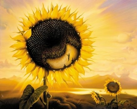 Vladimir Kush - Planet Sunflower THIS IS AMAZING. I WANT TO INCLUDE SUNFLOWERS IN MY SURREALISM PIECE .