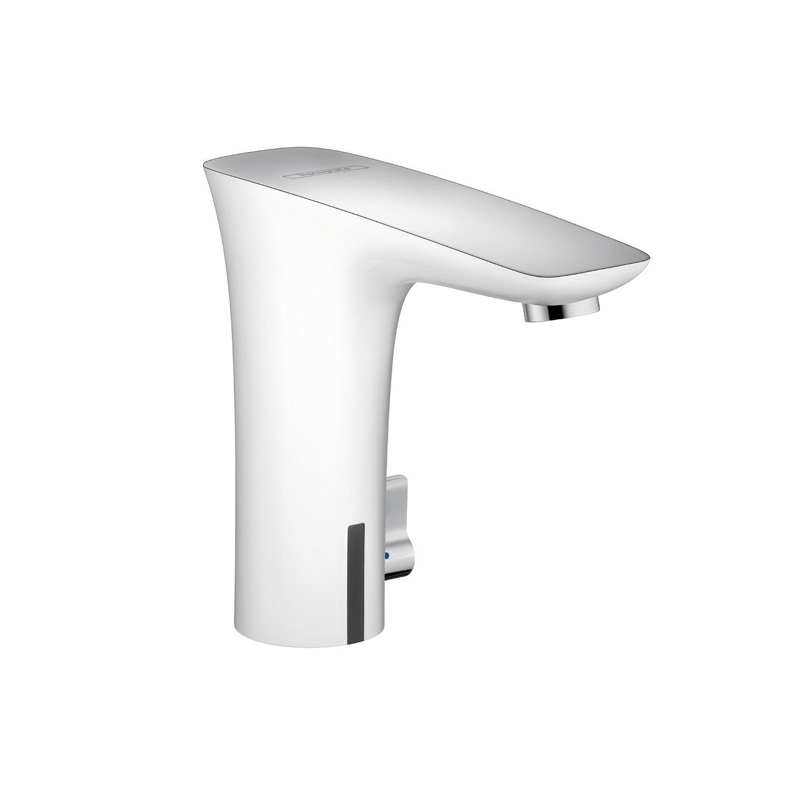 hansgrohe chrome white puravida bathroom faucet single