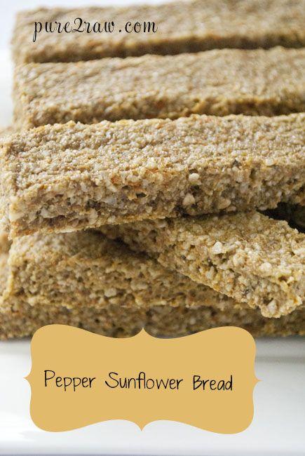 Homemade Raw Bread Vegan No Dehydrator Needed With Images Raw Food Recipes Raw Vegan Snacks Sunflower Bread Recipe