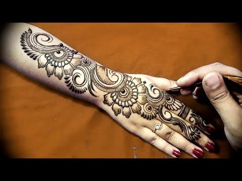 Arabic Mehndi Designs For Hand : New easy and simple floral arabic henna design for hands mehndi
