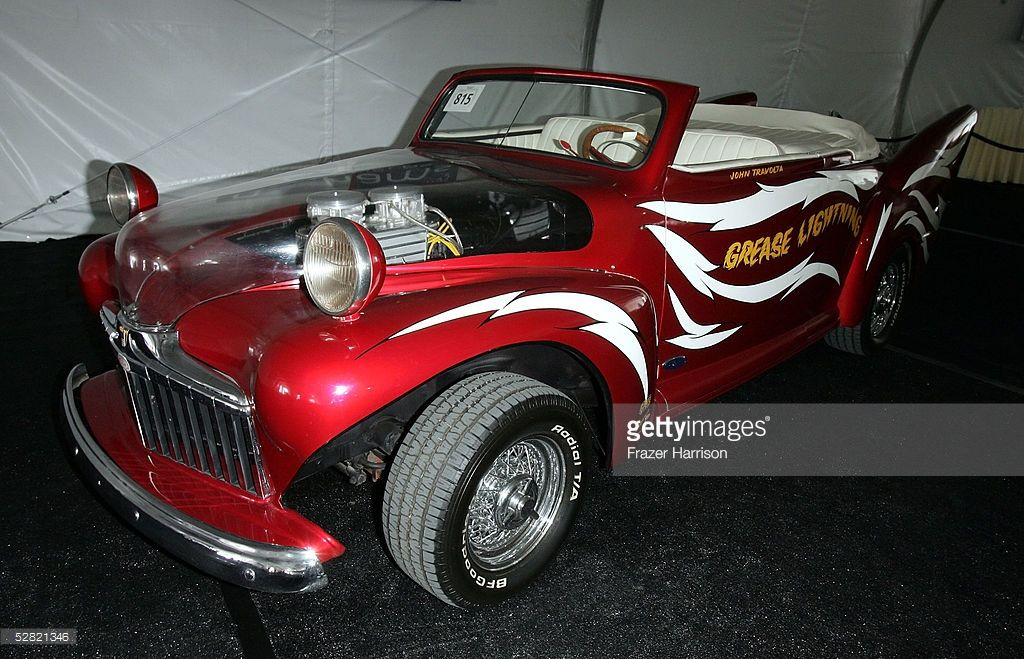 The Grease Lightning car from the movie 'Grease' is displayed at the Barris Star Car Collection Auction at the Petersen Automotive Museum on May 13, 2005 in Los Angeles, California.