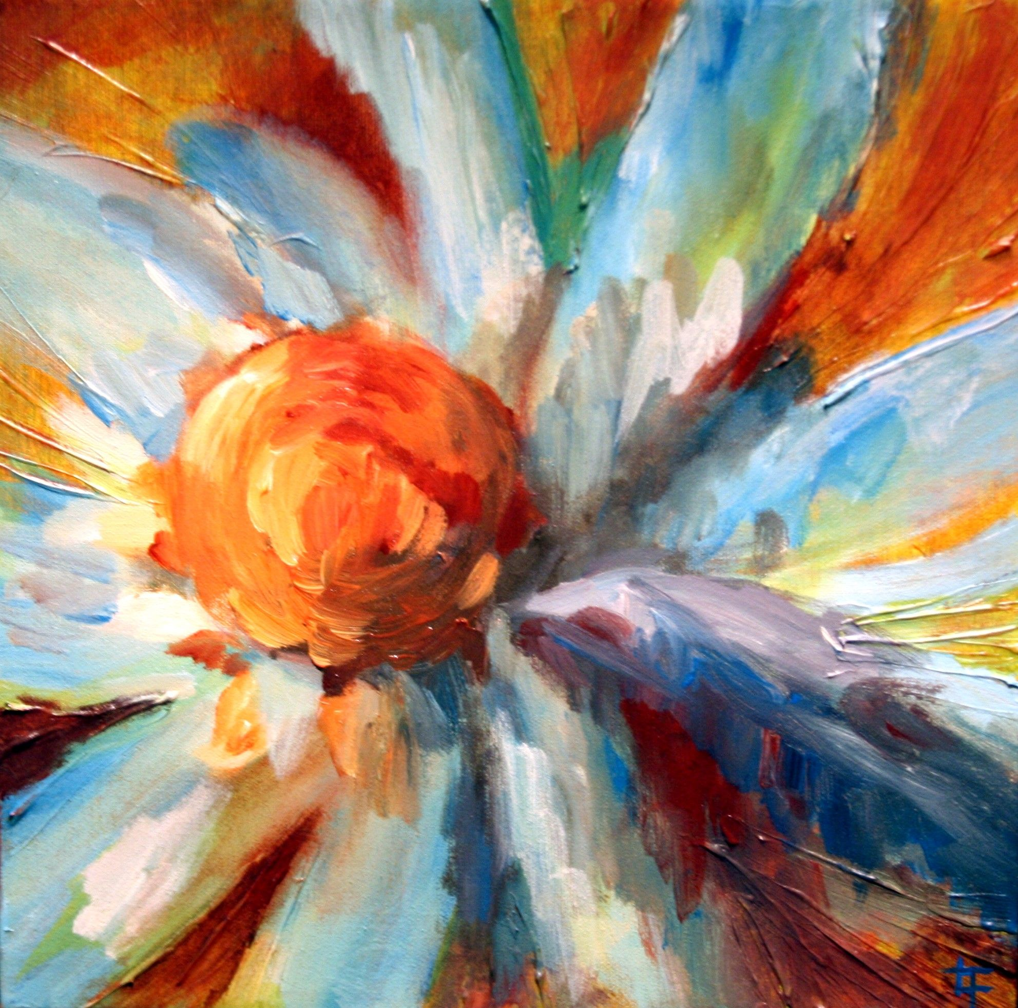 Caring for your painting abstract flower art flower art