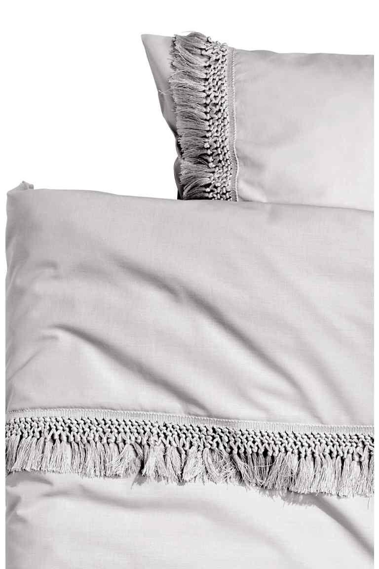 Copripiumino Singolo Cotone.Set Copripiumino Con Frange Duvet Cover Sets Bed Pillows Duvet