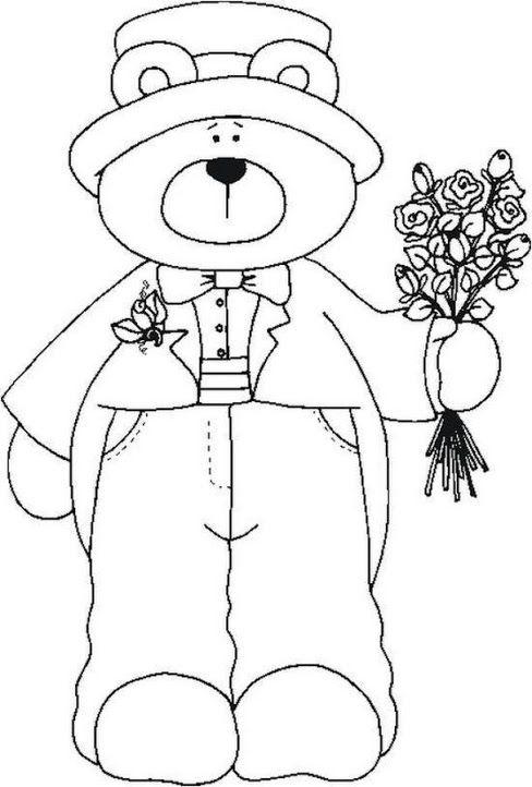 Oso Novio 1 Molde Kokopelli Art Teddy Bear Coloring Pages