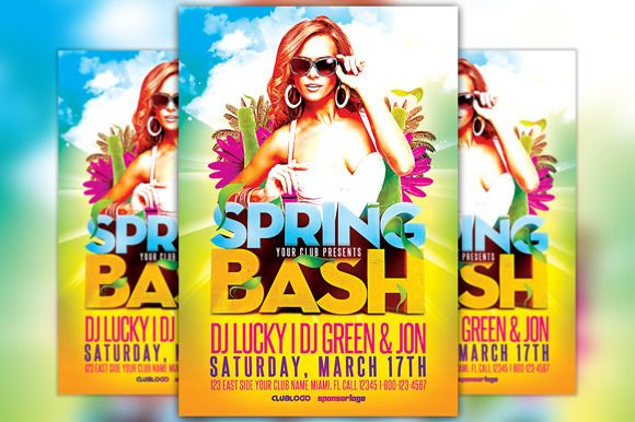 Check Out Spring Bash Flyer Template By Flyermind On Creative