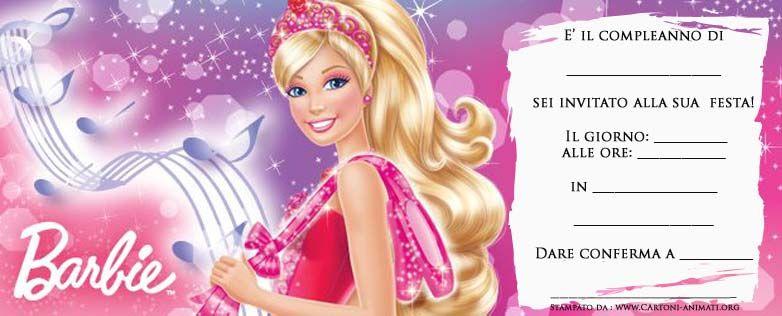 Inviti Per Feste Di Compleanno Da Stampare Gratis Di Barbie Compleanno Inviti Di Compleanno Inviti Per Feste