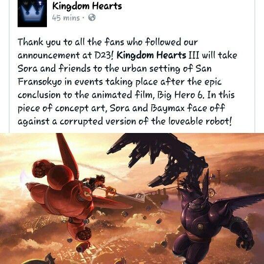 Its A Dream Come True Kingdom Hearts 3 And Marvel Collide Kingdom Hearts Kingdom Hearts 3 Big Hero