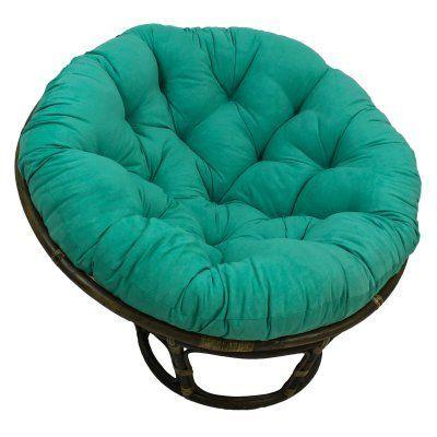 Blazing Needles Twill Solid Papasan Cushion Emerald - 93312-TW-EM
