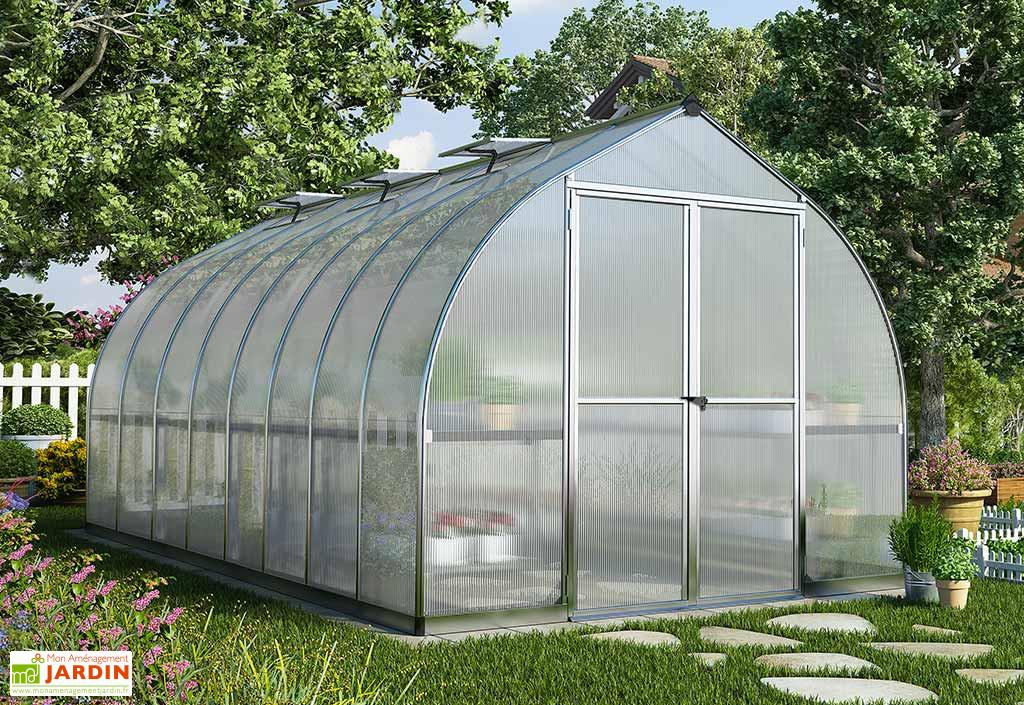 Serre De Jardin En Aluminium Et Polycarbonate Bella 11 7 M Avec Images Serre Jardin Maison Verte Plans De Serre