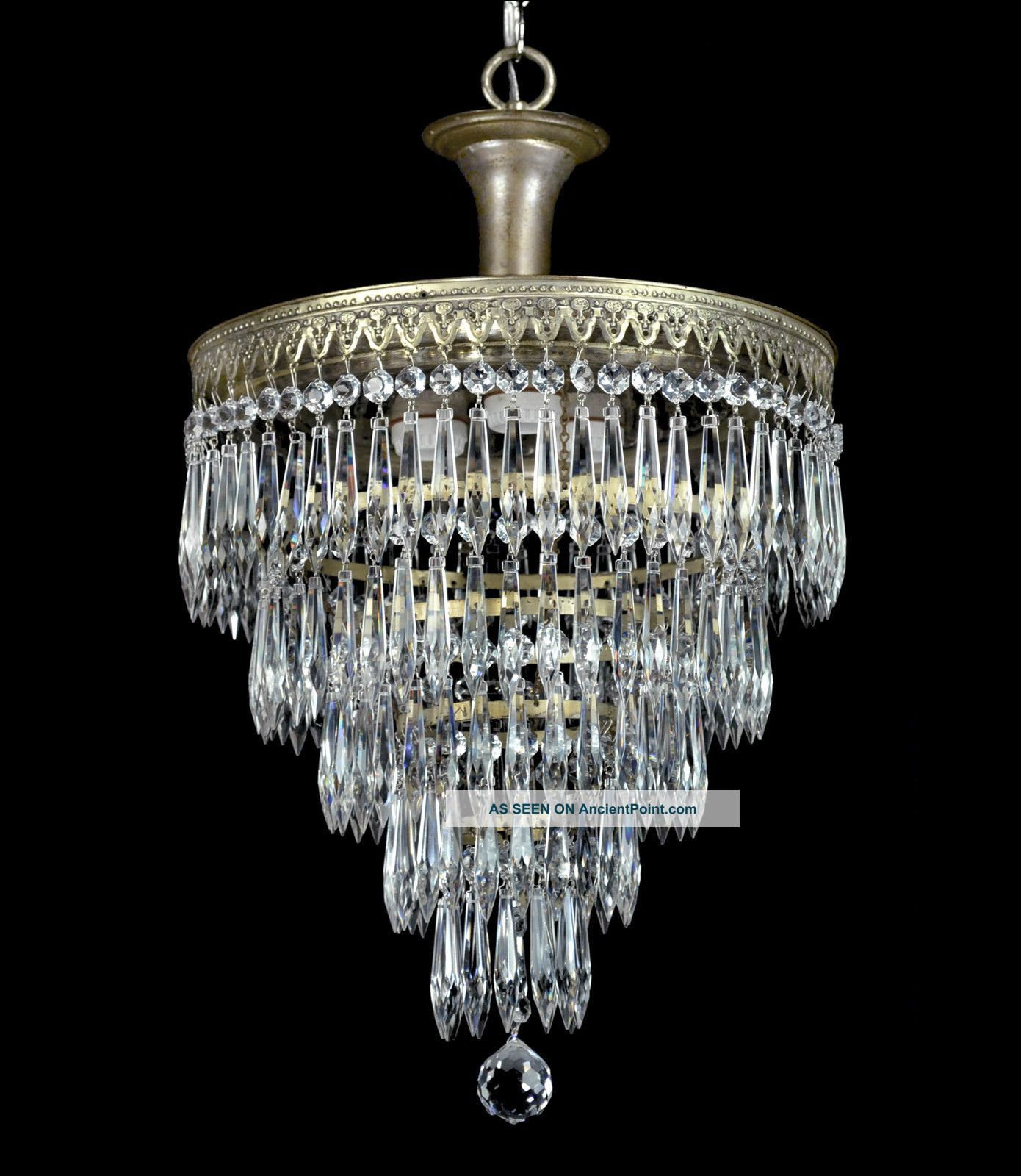 Vintage Wedding Cake Antique Chandelier Pendant Crystal Empire Art