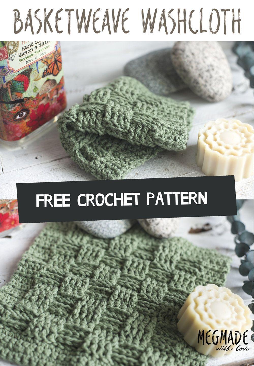 Basket Weave Stitch Washcloth Pattern Pinterest Steken Patronen