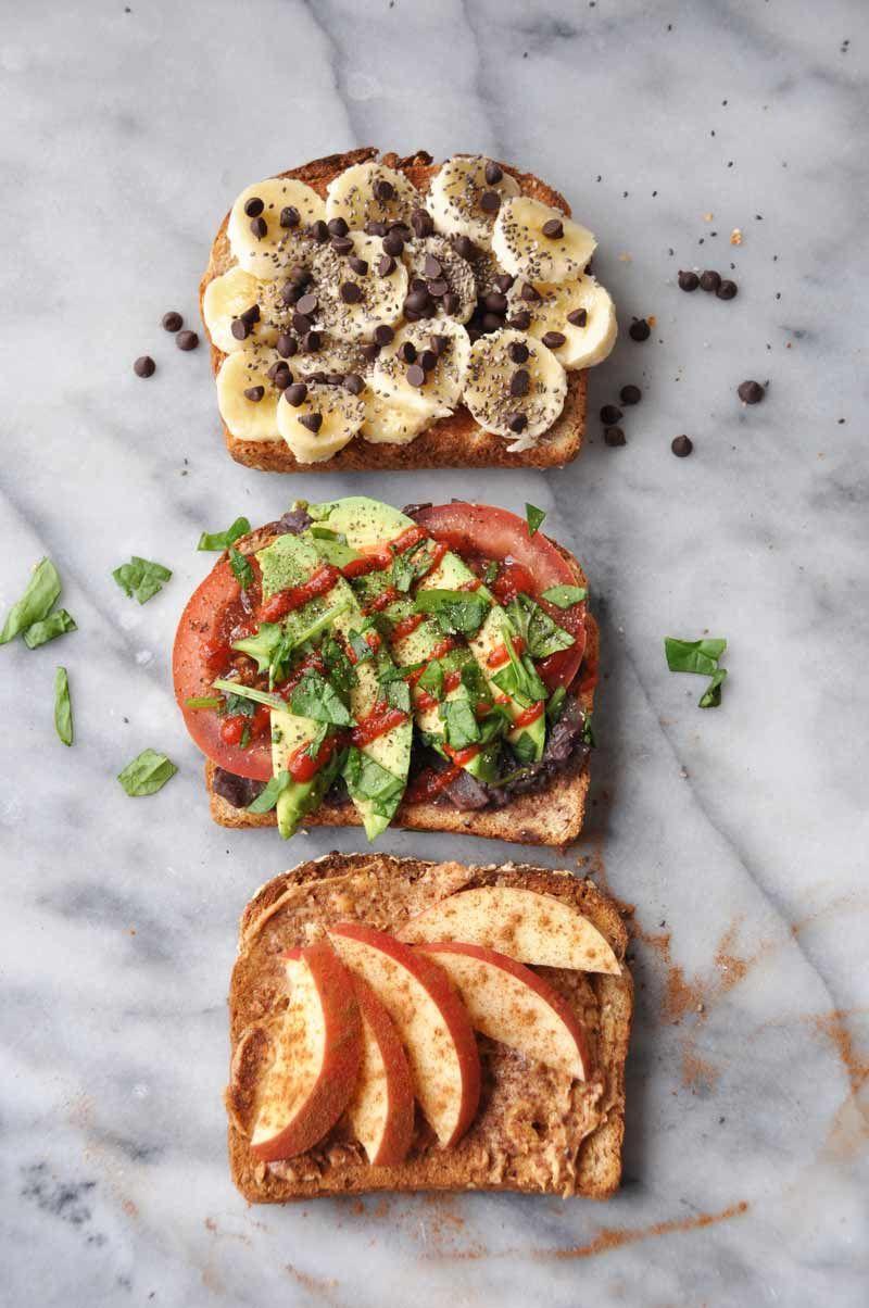 Simple Healthy Vegan Breakfast Toast That Isn T Boring Recipe Healthy Vegan Snacks Healthy Afternoon Snacks Healthy Vegan Breakfast