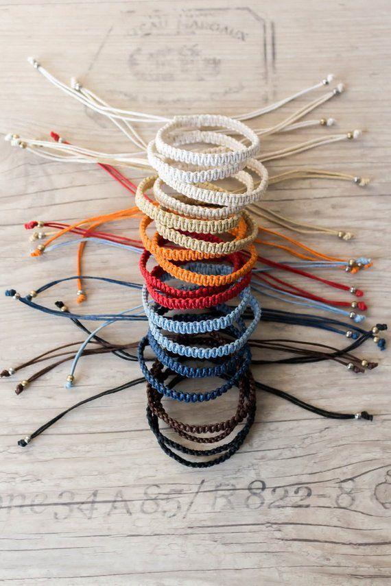 Bracelet De félin Macrame bracelet Hippie cadeau Friendship bracelet Bff bracelet Macrame bijoux Bracelets Empilables