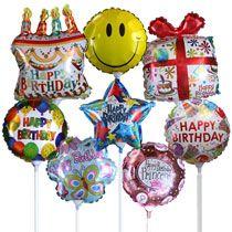 Bulk Pre Inflated Mini Happy Birthday Balloons On Sticks At