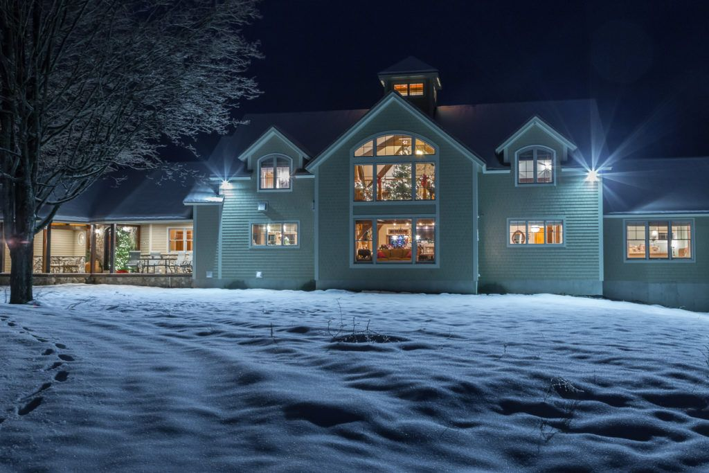 The Ironwood on a snowy night.