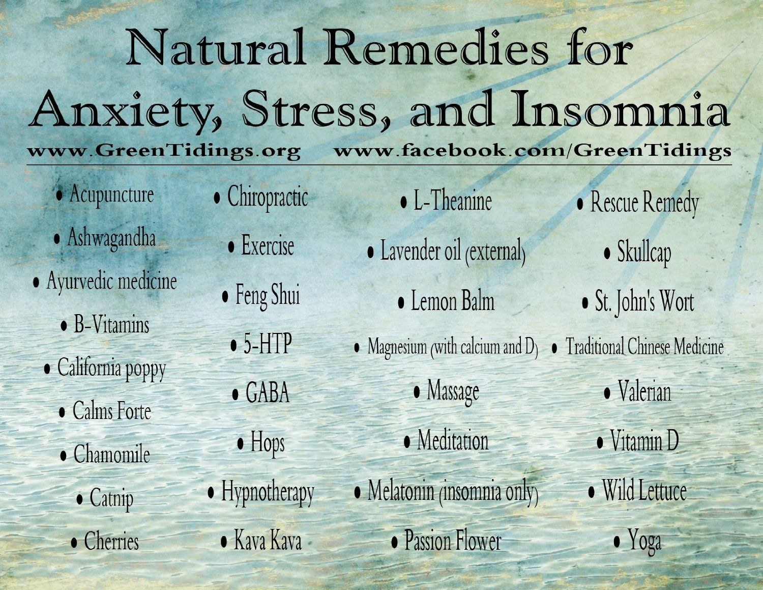 Natural Remedies for Anxiety, Stress & Insomnia (M