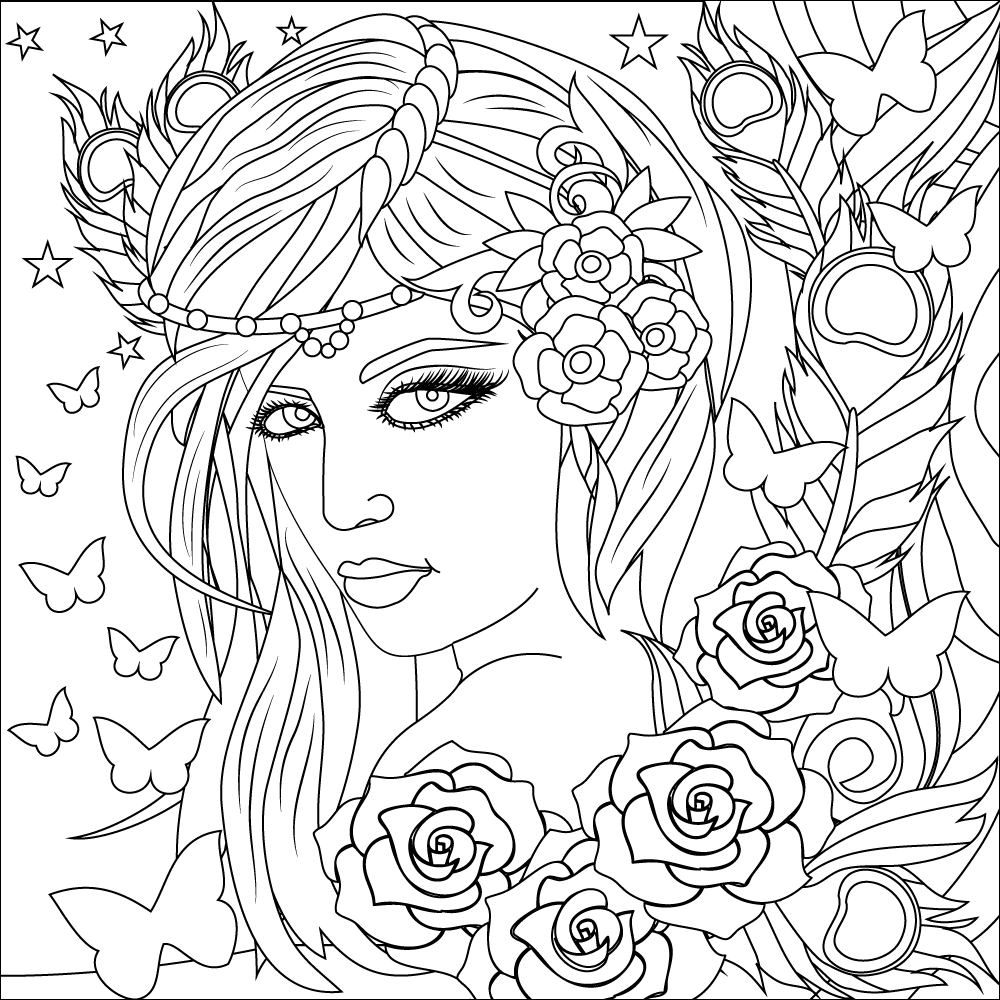 Download Stress Relief Adult Coloring Book Women Google