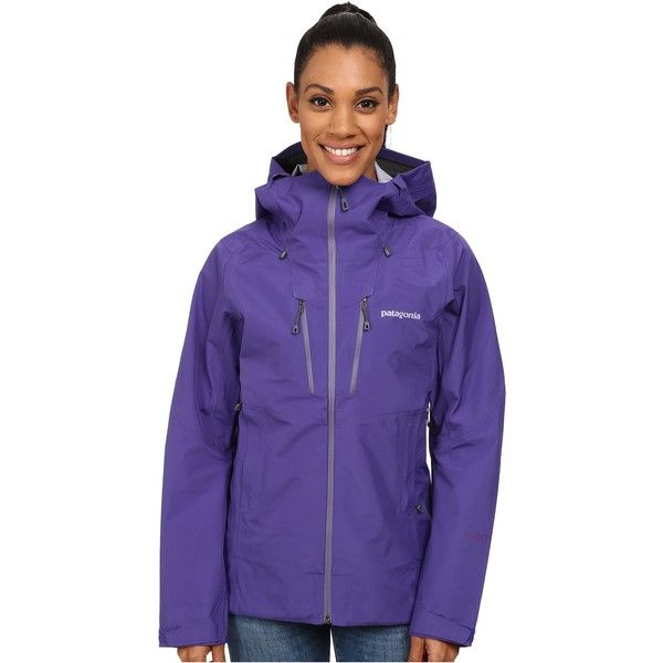 Patagonia Triolet Jacket Women's Jacket, Purple (470 NZD) ❤ liked on Polyvore featuring activewear, activewear jackets, purple, patagonia, patagonia sportswear and logo sportswear