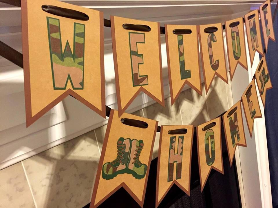 Welcome Home Military Banner, Welcome Home Sign, Military Homecoming,  Deployment Homecoming, Military