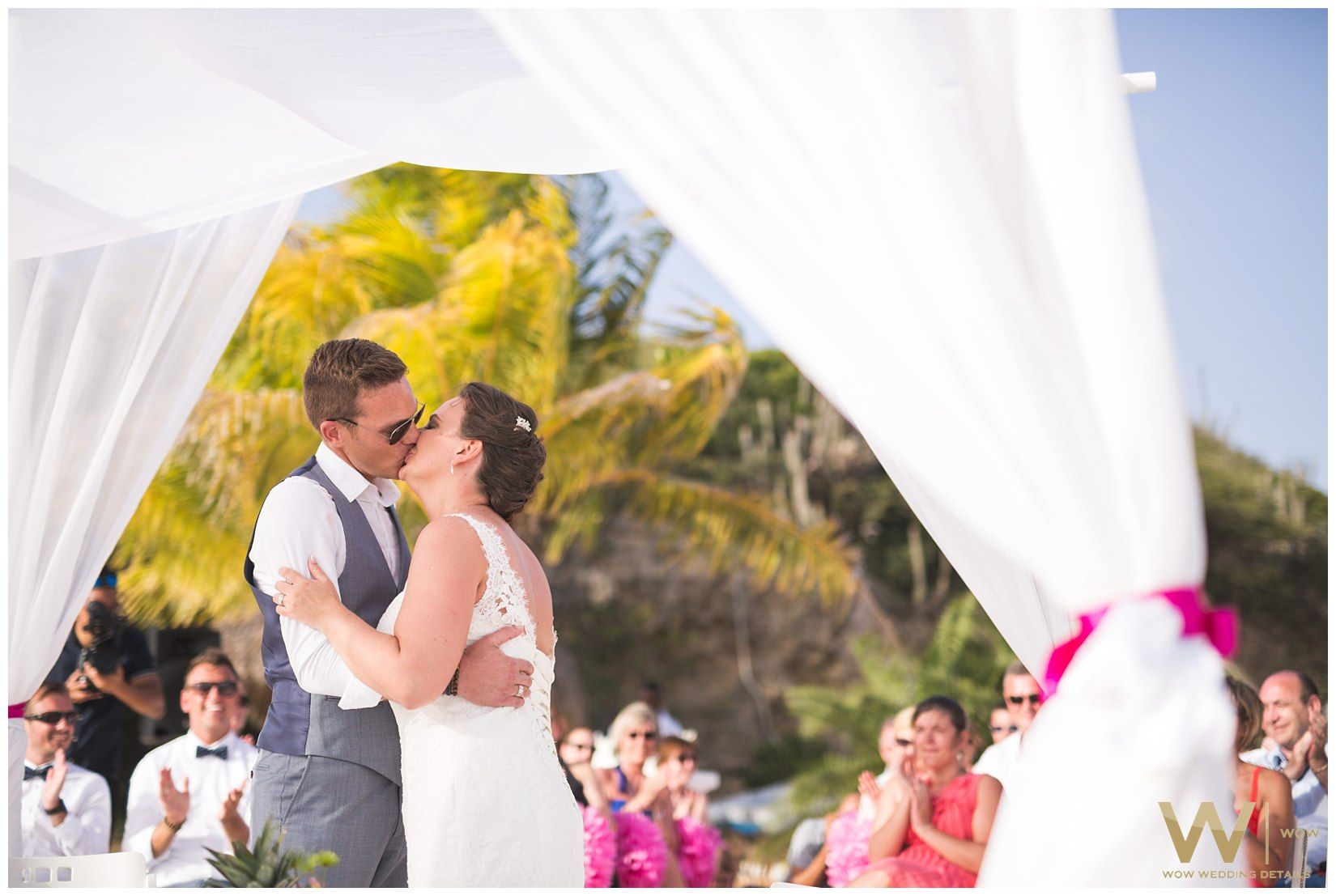 Stephanie Antoine België Curacao Destination Wedding Tropical Beach Cas