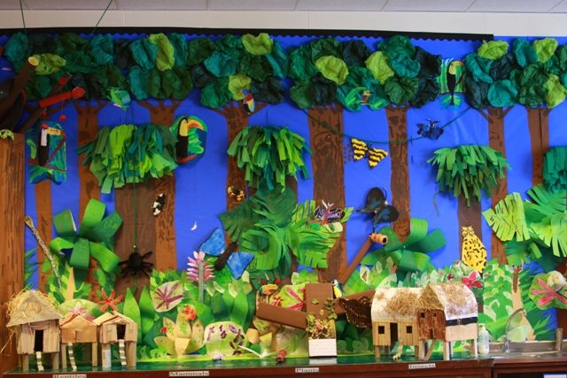 Saving the rainforest pinterest bulletin board for Amazon arts and crafts for kids