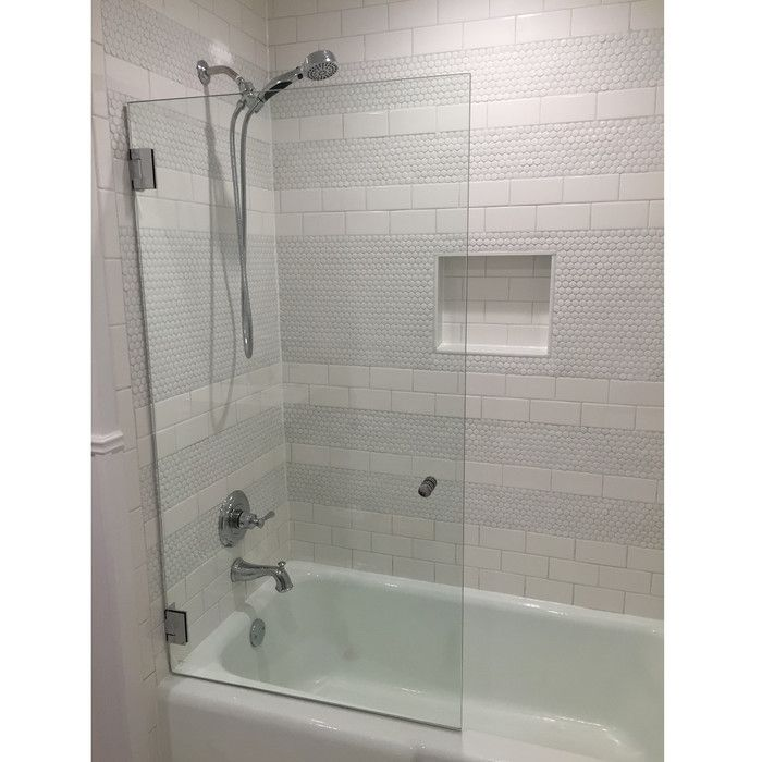 34 W X 58 H Frameless Tub Door Tub Doors Bathtub Doors Small Bathroom Remodel