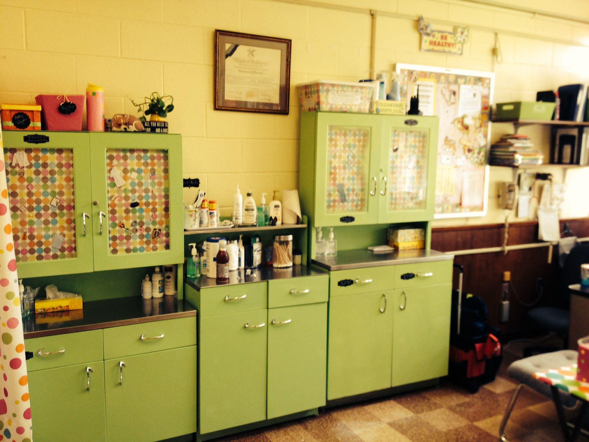 Back wall of my School Nurse Office | School Nurse Office ...