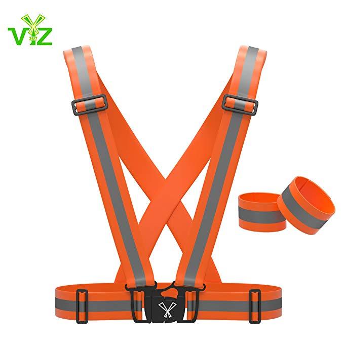 AmazonSmile 247 Viz Reflective Vest with Hi Vis Bands