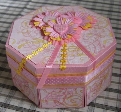 Baby Pink Octagonal Exploding Box Gift Boxes And Boxes That Are