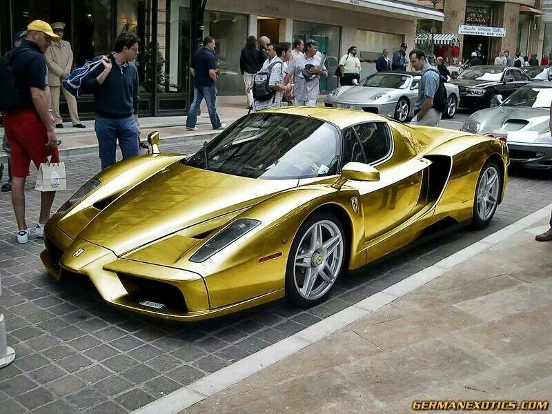 Gold enzo nice rides pinterest cars cars fandeluxe Images