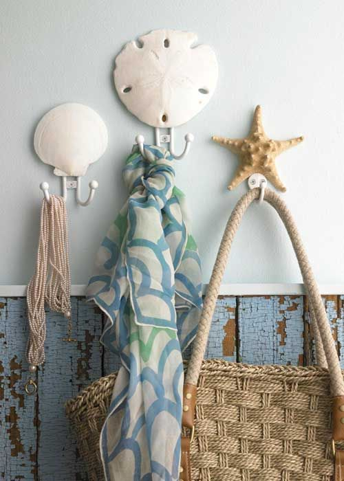 Hang A Shell Above The Hook Great Idea For The Beachy Bathroom