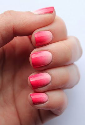 Pink And Red Ombre Nails Red Ombre Nails Ombre Nail Diy Ombre Nails