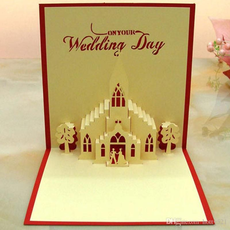 Diy Birthday Cards Online Hot Sale New Wedding Day Church Handmade Creative 3d Pop Up Gift