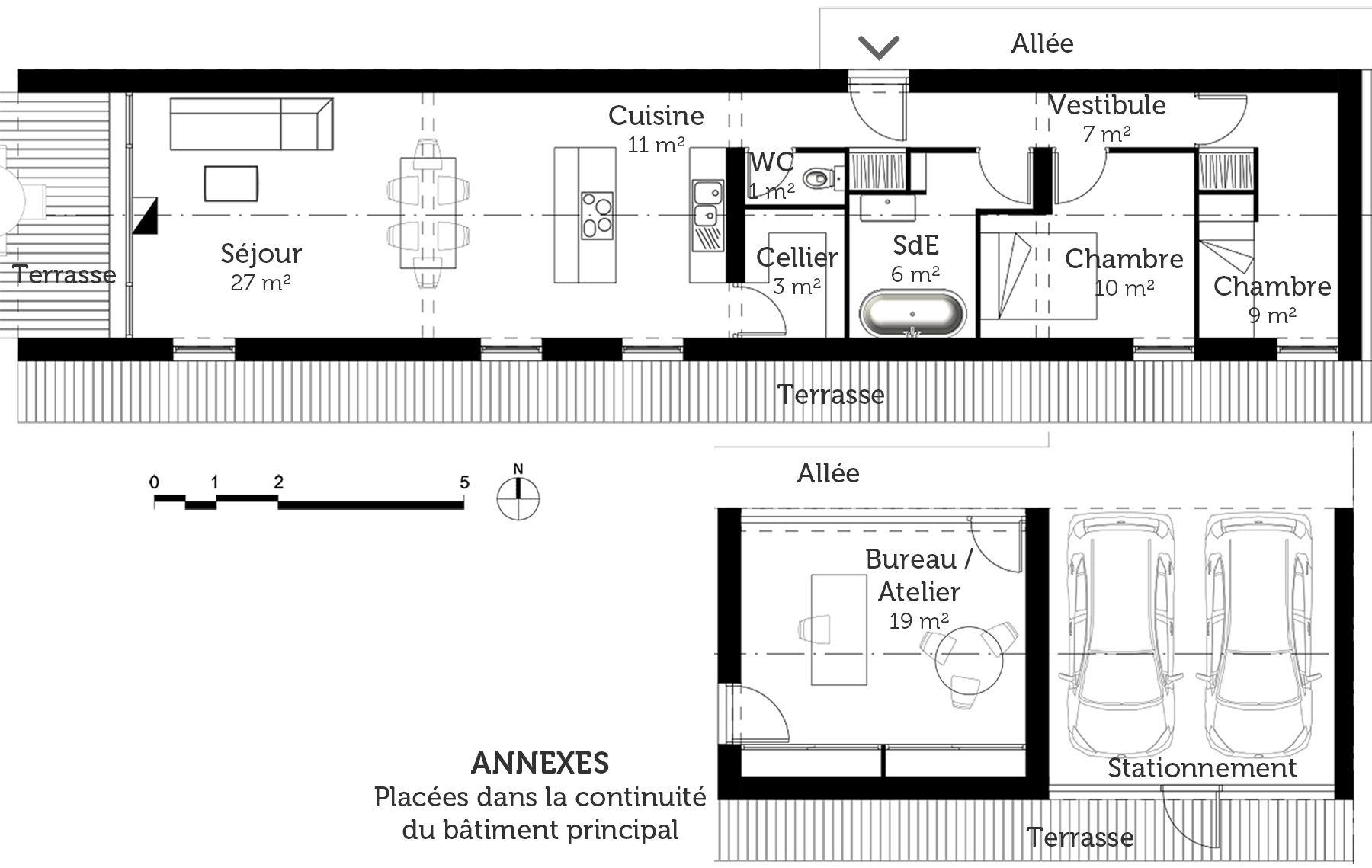 Plan Au Sol Plan Maison Maison Plain Pied Plan Maison Etage