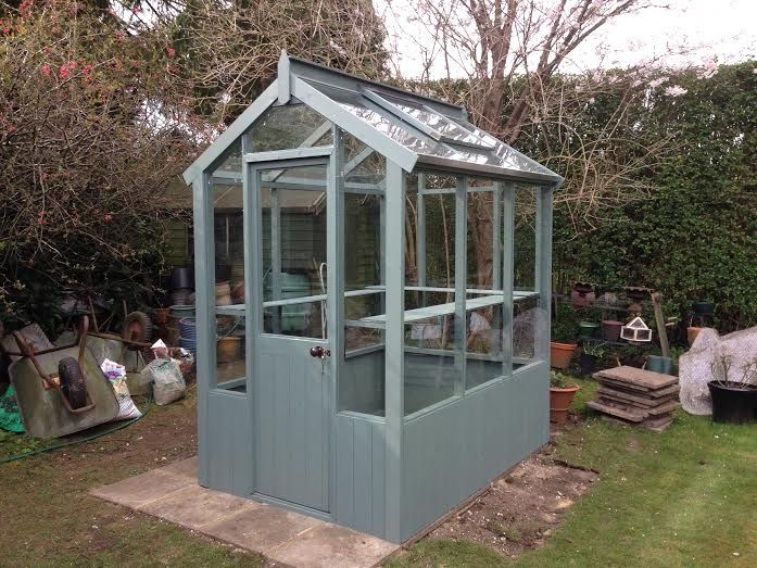 Cotswold small 4x4 wooden greenhouse wooden greenhouses for Tiny house with greenhouse
